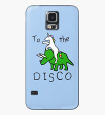 To The Disco (Unicorn Riding Triceratops) Case/Skin for Samsung Galaxy