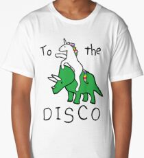 To The Disco (Unicorn Riding Triceratops) Long T-Shirt