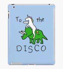 Vinilo o funda para iPad To The Disco (Unicorn Riding Triceratops)