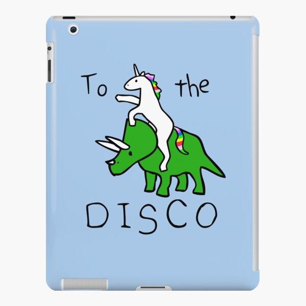 To The Disco (Unicorn Riding Triceratops) iPad Snap Case