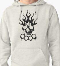 Kontra K DPK Vollkontakt Totenkopf Schlagring Logo Pullover Hoodie