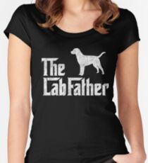 The Lab Father Labrador Retriever Dad Gift Women's Fitted Scoop T-Shirt