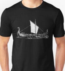 Viking Motive > Viking Boat > Long Boat Slim Fit T-Shirt