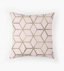 Nude pearl geometric Throw Pillow
