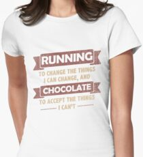 Funny Quotes > Running + Chocolate > Change + Accept  T-Shirt