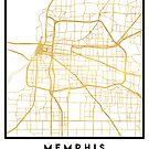 MEMPHIS TENNESSEE CITY STREET MAP ART by deificusArt