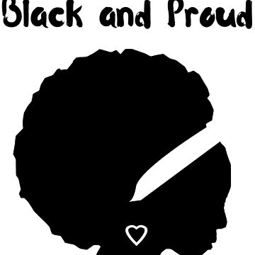 Black and Proud Woman with Afro by ladyeva