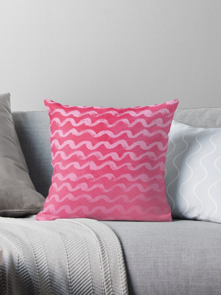 Neon Pink Wave Texture Pattern by quarantine81