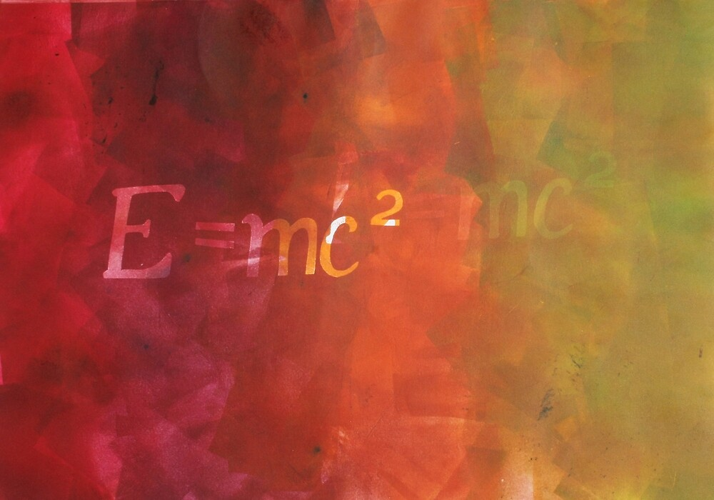 E=mc2 equation print by MichelleEve