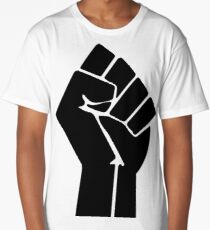 Raised Fist / Black Power Symbol Long T-Shirt