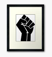 Raised Fist / Black Power Symbol Framed Print