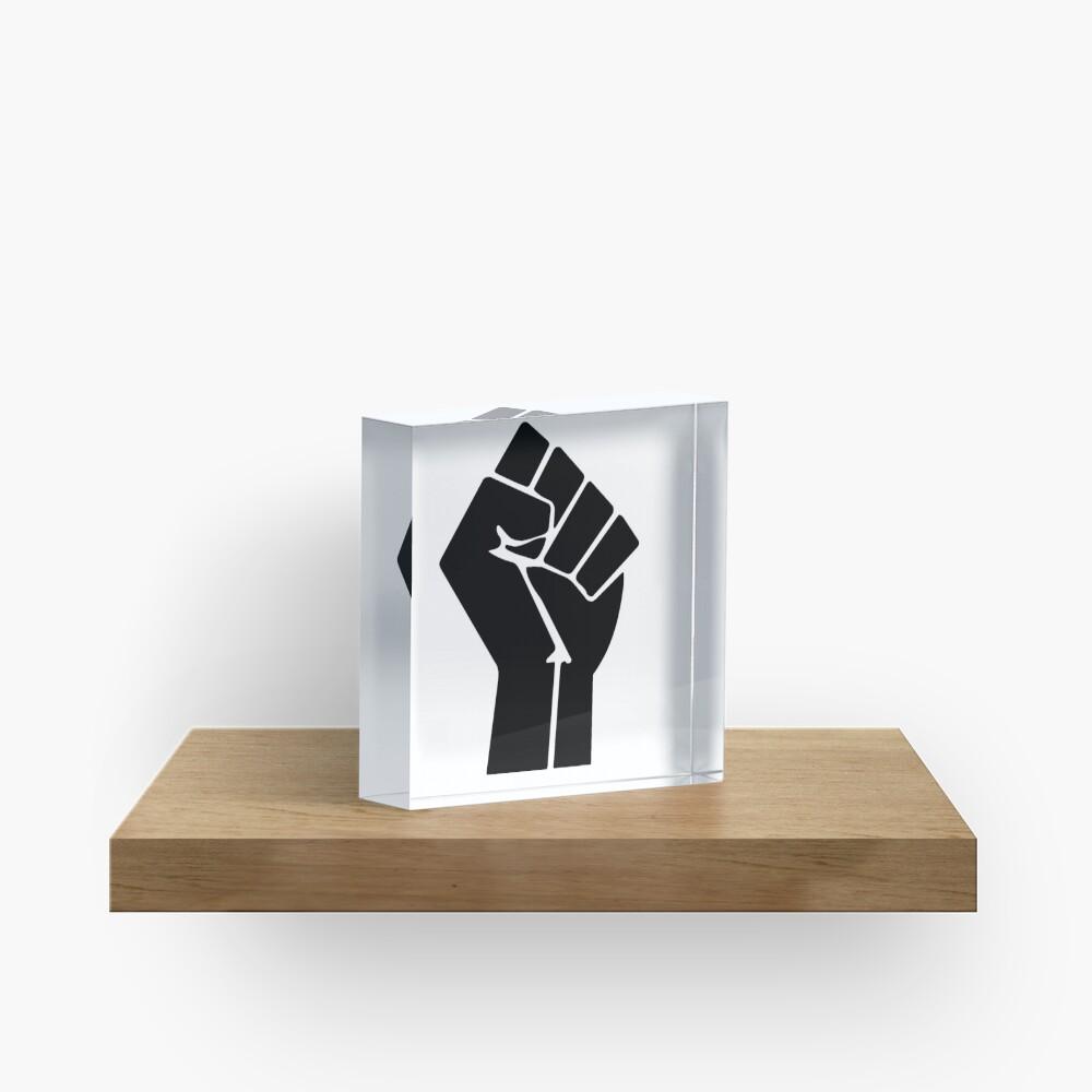 Raised Fist / Black Power Symbol Acrylic Block