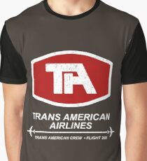 Airplane - Trans American Airlines Graphic T-Shirt