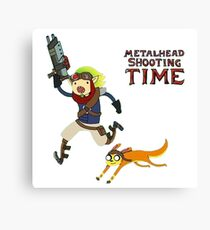 Jak and Daxter Adventure Time Canvas Print