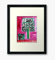 Fox and tree  2 Framed Print