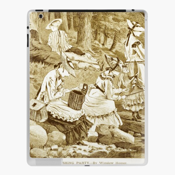 HD The fishing party, by Winslow Homer (1836/1910) iPad Skin