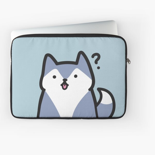 Simple Husky Understands Nothing and has Absolutely No Education Laptop Sleeve