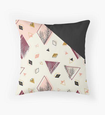 Rhombus&Palms #redbubble #decor #buyart Throw Pillow