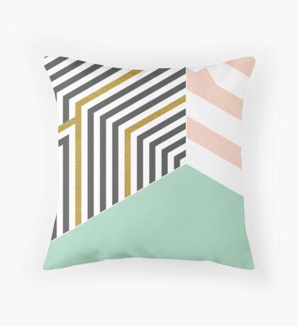 Mint&Gold Room #redbubble #decor #buyart Throw Pillow
