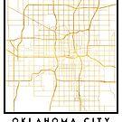OKLAHOMA CITY STREET MAP ART by deificusArt