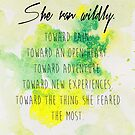 She ran wildly.  by Franchesca Cox