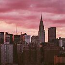 New York City Sunset Cityscape by Neli Dimitrova