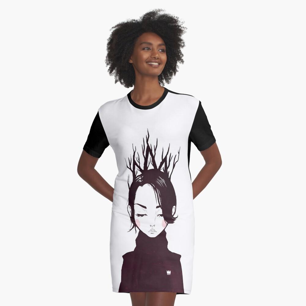 Waldkönigin T-Shirt Kleid
