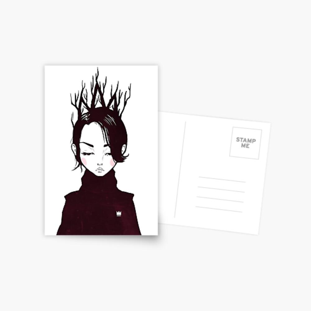 Waldkönigin Postkarte