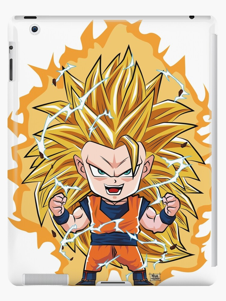 goku ssj3 ipad cases skins by origamigne redbubble