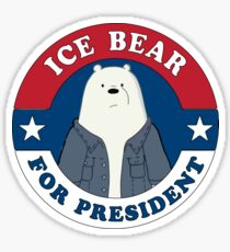 ICE BEAR FOR PRESIDENT Sticker