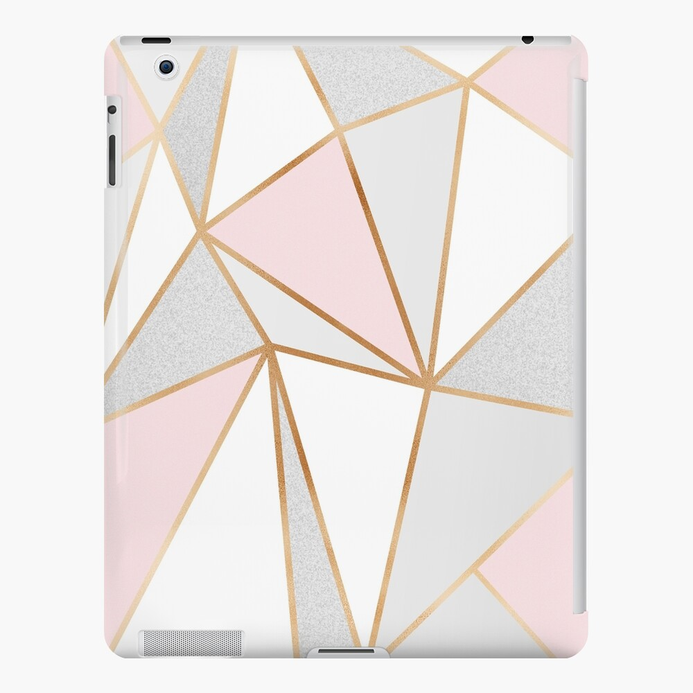 Pink, Grey & Gold Geo iPad Case & Skin