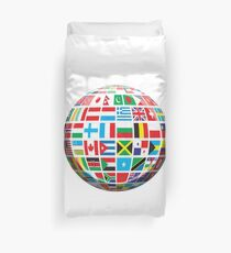 World, Flags of the Globe, Flags, Globe, Peace, Global Duvet Cover