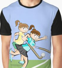 Girl carrying ball with her hockey stick Graphic T-Shirt