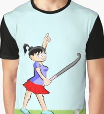 Professional hockey player girl with winning attitude Graphic T-Shirt