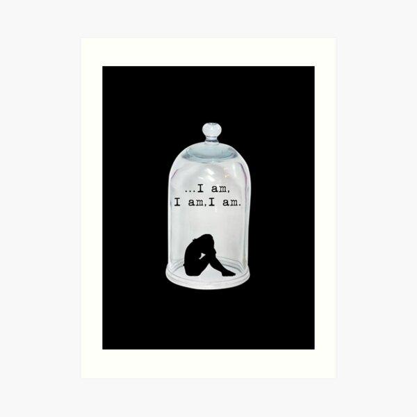 The Bell Jar - Sylvia Plath - quote Art Print