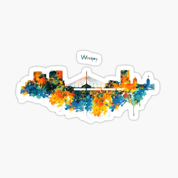 Winnipeg Skyline Sticker