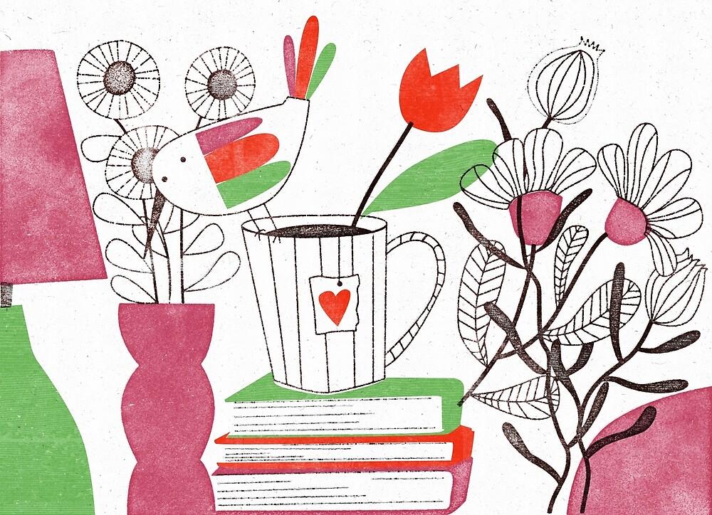 « Tea Time with Books » par Mireille  Marchand