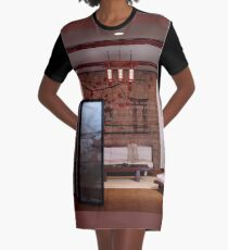 Japanese Home Interior Graphic T-Shirt Dress