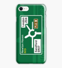 Cornetto Trilogy Road Sign iPhone Case/Skin