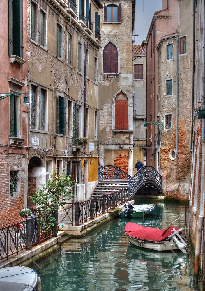 A Canal In Venice Italy by Mythos57