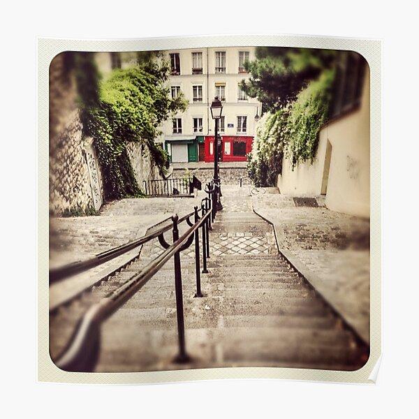 Steps at Montmartre, Paris Poster