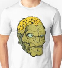Angry Green Hipster Zombie T-Shirt