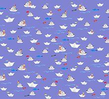 Paper Boats pattern by Elisandra Sevenstar