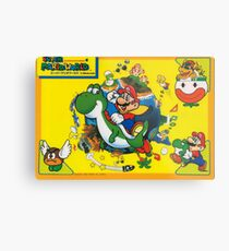 Super Mario World Print Metal Print