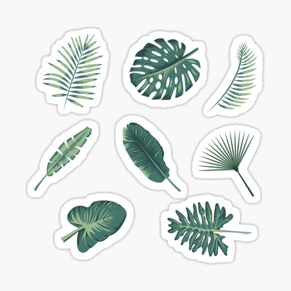 Tropical Leaves Stickers Redbubble Find more awesome tropical images on picsart. redbubble