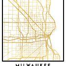 MILWAUKEE WISCONSIN CITY STREET MAP ART by deificusArt