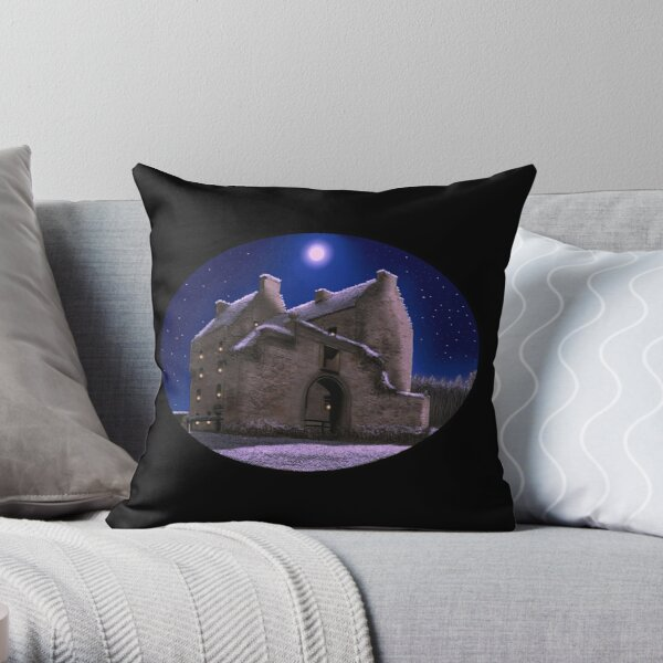 Lallybroch Midhope Castle Winter Throw Pillow
