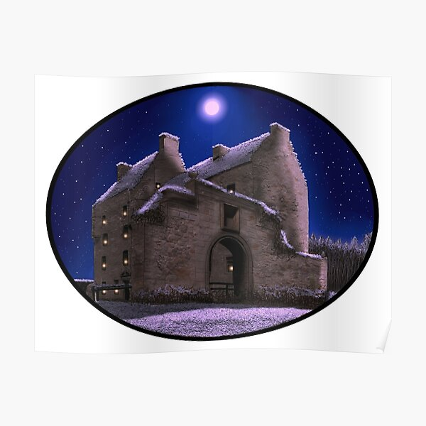 Lallybroch Midhope Castle Winter Poster