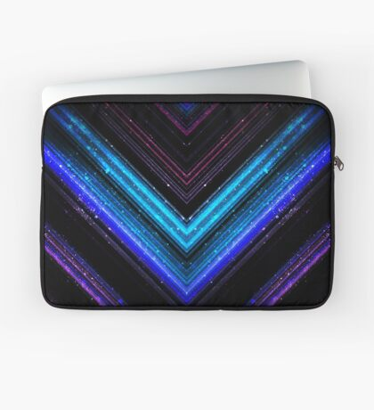 Sparkly metallic blue and purple galaxy lines Laptop Sleeve