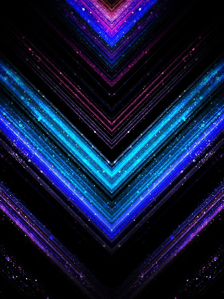 Sparkly metallic blue and purple galaxy chevron lines by PLdesign